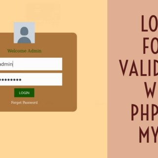 Login form validation with PHP and MySQL
