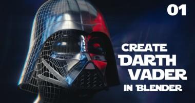 Blender Tutorial : Star Wars Darth Vader Helmet – 01