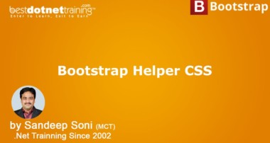 Bootstrap Tutorial – Helpers CSS Classes