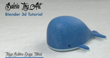 Como modelar Baleia toy art blender 3d ( Whale) cycles render tutorial