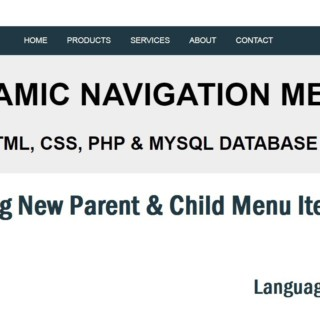 Dynamic Menu In PHP & MySQL: Adding New Menu Item Urdu/Hindi Part 5/6