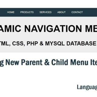 Dynamic Menu In PHP & MySQL: Adding New Menu Item Urdu/Hindi Part 5/6