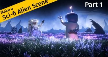 Make a Scifi Alien Scene in Blender – Part 1 of 2
