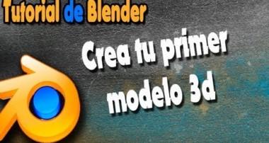 Crea tu primer modelo fácil 3d con blender