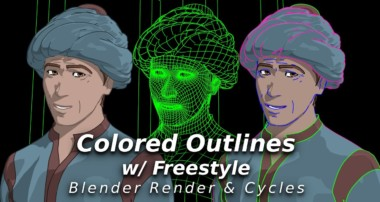 Colored Outlines with Freestyle – Applies to Blender Render and Cycles