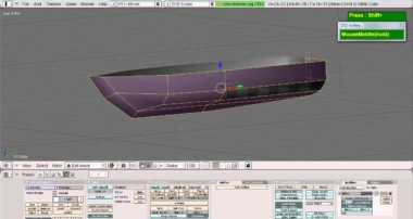 Blender Simple Boat Hull modeling tutorial