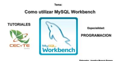 Tutorial como usar Workbench, crear diagramas, tablas, relaciones y manipular registros