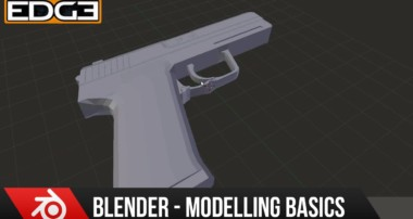 Blender for Beginners: 3D Modeling a Basic Handgun tutorial series part 2 by Zoonyboyz