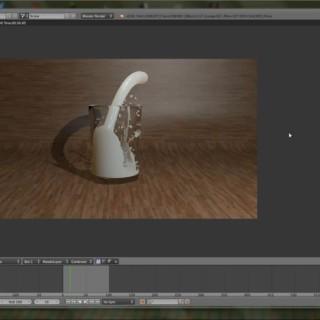 Blender 3D Tutorial – Ein Glas in das Milch gefüllt wird [German] [FULL HD]