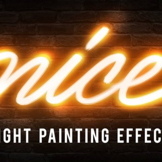 Photoshop Tutorials – Light Painting Text Effect