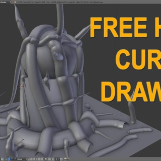Blender Tutorial – Freehand Curve Feature!