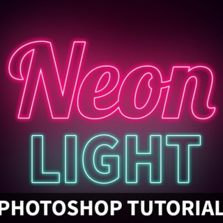 Photoshop tutorials-Neon Light Text Effect[Photoshop tutorials]