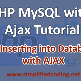 3. PHP MySQL with AJAX Tutorial – Insert Into Database with AJAX