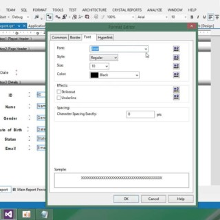 Visual Basic Net Tutorial with MySql database 25 Designing Crystal Report