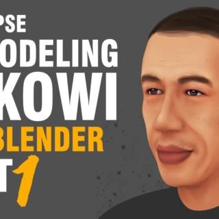 Blender 3D – 3D Modeling Pak Jokowi PART 1 (Timelapse)
