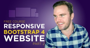 Bootstrap 4 Tutorial [#5] Hand-code a Responsive Website (Part 2)