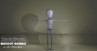membuat karakter sederhana di blender (modeling) [tutorial animasi bahasa indonesia]