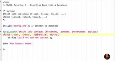 Tutorial 4 – MySQL Insert