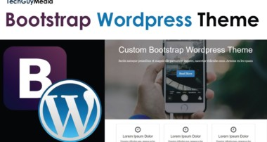 WordPress Theme With Bootstrap [2] – Header & Footer