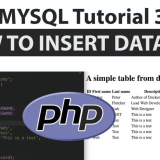 PHP MYSQL Tutorial 3 How to insert records into a MYSQL database via PHP