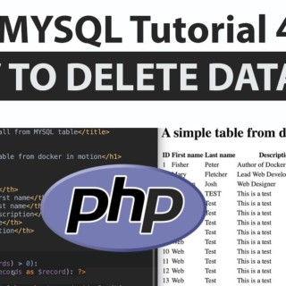 PHP MYSQL Tutorial 4 | How To Delete A MYSQL Row In PHP