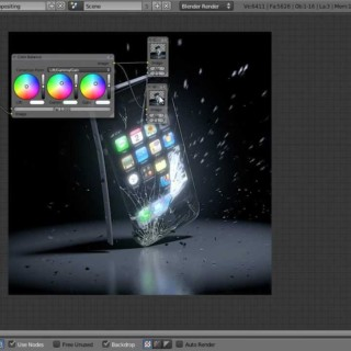 Smash an iPhone in Blender