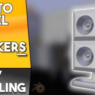 How to model mini speakers in Blender || Architecture Modeling [Beginner Tutorial]