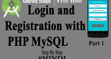Android Login and Registration with PHP MySQL from Server API -Part 1 [Hindi]