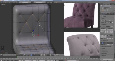 Blender Tutorial – Modeling a  Antique Chair – 1 of 3
