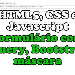 HTML5-CSS-JavaScript – Formulário com JQuery, Bootstrap, máscara