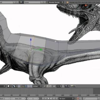 Modeling A Velociraptor in Blender Part 1