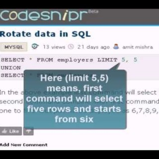 MySQL Tutorial : rotate data