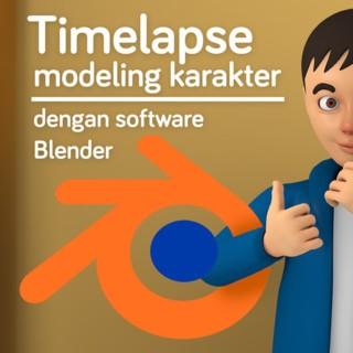 Tutorial Modeling Karakter dengan Software Blender (Timelapse)