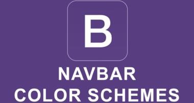 Bootstrap 4 Tutorial 37 – Navbar Color Schemes