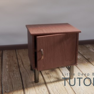 Tutorial? Blender Cycles render Bedside Table / 床頭櫃