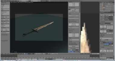 Blender Modeling – Realistic Sword (Skyrim) Mesh and Textures