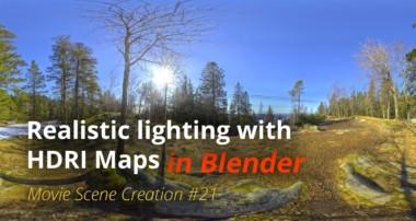 MSC #21 – Realistic lighting with HDRI Maps (Blender Tutorial EN)