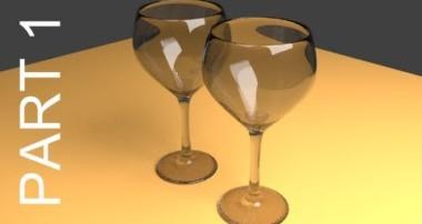 Blender Tutorial For Beginners: Wine Glasses – 1 of 2