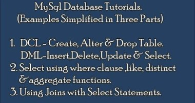 MySql Database Tutorials with Examples|Simplified