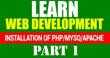 Installation PHP/MySQL Server [Windows]- Web Development Tutorial [Part 1][Hindi/Urdu]