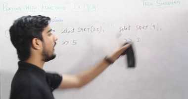 Lecture 12 – Playing with Functions in MYSQL for class XII By Tech Shubham
