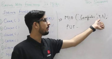 Lecture 13 – String Functions in MYSQL for class XII By Tech Shubham
