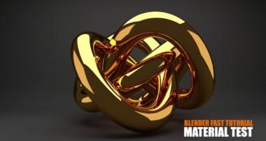 gold material blender cycles render