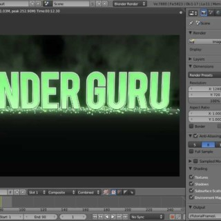Create a 3D Animated Title using Blender
