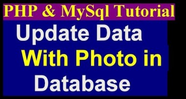How To Update Photo, Title And Unlink Photo By Admin Panel – Php Mysql Project Tutorial – part 16