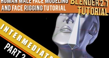Human Male Face Modeling and Face rigging Part 2 Tutorial in Blender 2.71