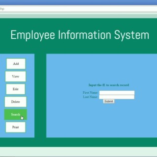 Employee Information System using PHP and MySQL Server
