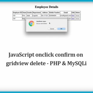 JavaScript onclick confirm on gridview delete – PHP & MySQLi