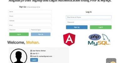 AngularJS User Signup And Login Authentication Using PHP & MySQL – PART 2