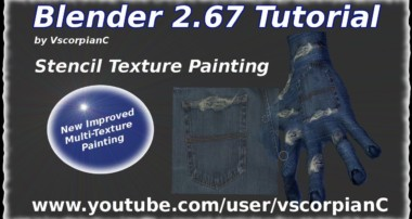 Blender 3D Tutorial – Stencil Texture Painting Multitextures by VscorpianC